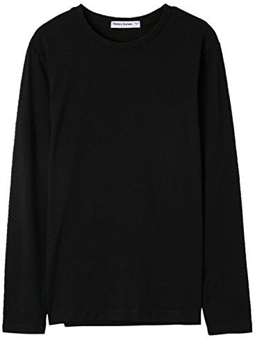 meters-bonwe-mens-solid-color-round-neck-long-sleeve-knitted-tee-black-m