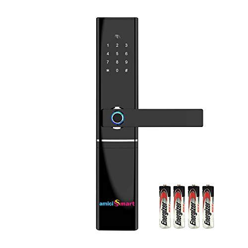 amiciSmart Multi-Access Touchless Smart Door Lock Alexa Compatible Intelligent Biometric Fingerprint App Controlled…
