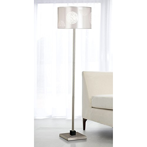 Kenroy Home 20963BS Cordova Floor Lamp, Brushed Steel with Graphite Accents by Kenroy Home (Image #1)