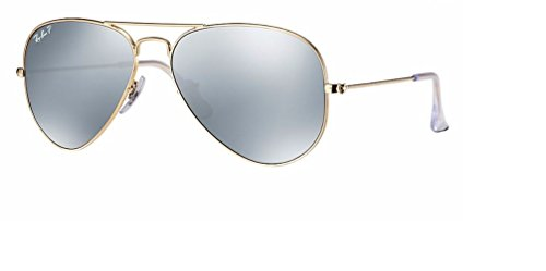 Ray Ban RB3025 112/W3 58M Matte Gold/ Polarized Dark Gray - Bans Dark Ray