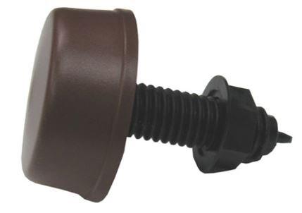 Herga Mushroom Air Button complete 6433 series Brown 2 inch