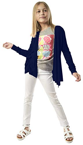 Open Cardigan for Girls - Long Sleeve Back to School Fall Sweater