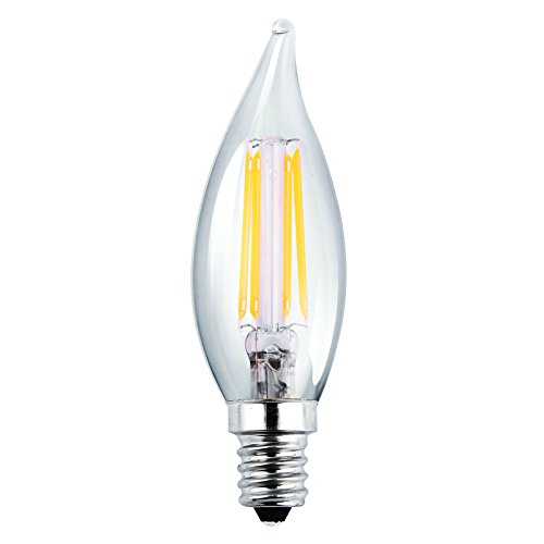 Luxrite Lr21250 2 Pack 4w Led Filament Candelabra Bulb: Light Post Base: Amazon.com