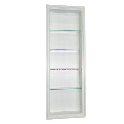 42 Inch Recessed in The Wall Norwood Niche-White - Wall Niche Shelf