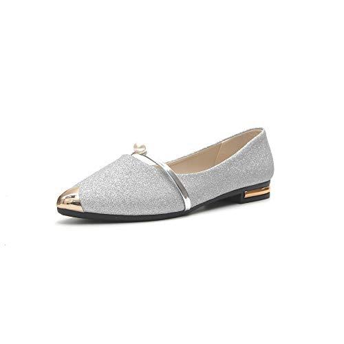 Pointues Plates Nouvelle Harajuku Femme Hong Sauvages Coréenne Chaussures Été Femmes Style Silver Yxlong Simples Des De Sandales Version Kong aZvHxH