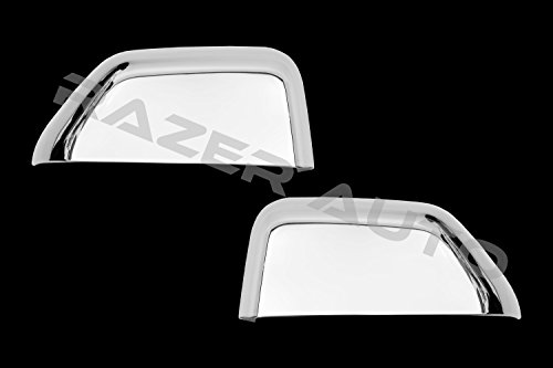 Razer Auto Triple Chrome Top Half Towing Mirror Cover (Chrome) Replacement Type for 2015-2017 Ford F150, 2017-2018 Ford Super Duty F350, F450, F550, F650