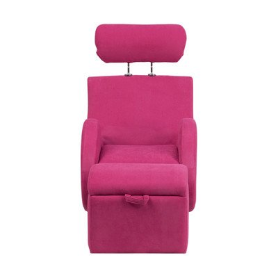 Hercules Series Kids Recliner Chair and Ottoman Color: Pink