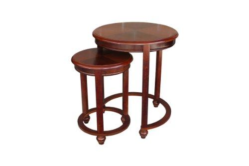 Asheville light cherry round nested table set of 2 buy for Table asheville