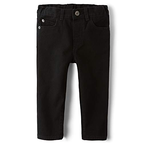 Denim Boys Black Toddler - The Children's Place Baby Boys' Skinny Jeans, Black DNM 4126, 5T