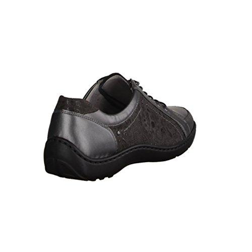 Gris Chaussures De Lacets À Waldläufer Ville Femme Pour 7CO0Apqx