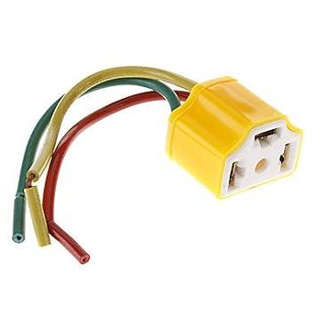 Amazon.com: GXI H4 12cm Socket Adapter Holder for Car Bulb ...