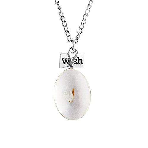Zealmer Dandelion Necklace Pendant Nameplate