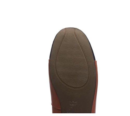 la EN ZFNYY Arco Color Planos de Zapatos golpean Cuero Zapatos Femeninos Boca Individuales Yardas Grandes de papF8qw