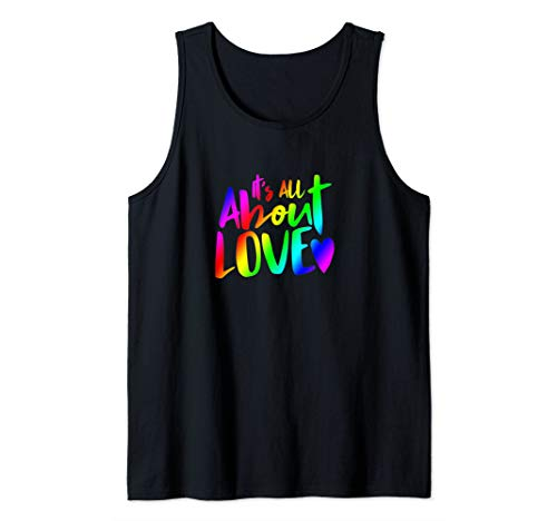 It's All About Love Inclusion Design with Rainbow Tank Top