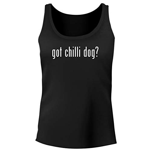 - One Legging it Around got Chilli Dog? - Women's Funny Soft Tank Top, Black, X-Large