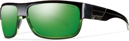 Smith Optics Collective Sunglass, Black Green / Green Mirror TLT - Smith Prescription Sunglasses