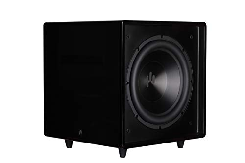 Aperionaudio Bravus II 12D Powered subwoofer high Gloss Black - 12-inch Aluminum Cone Driver 650-watts RMS, with Two Side Passive Radiator