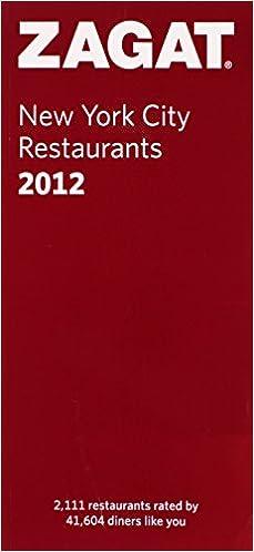 Zagat 2008 new york city restaurants (zagatsurvey): zagat survey.