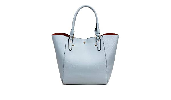 Amazon.com  Luxury Designers PU Leather Handbags Big Capacity Shopping Bag  Women Shoulder Bags Women Messenger Bags Female Causal Tote Color Sky Blue  Bag  ... 27003120fc298