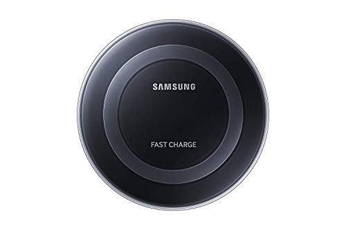 Samsung Qi Certified Fast Charge Wireless Charging Pad for Qi Compatible Smartphones with Built-in Cool Fan - Retail Packaging - Black (Unlocked Cool Phones)