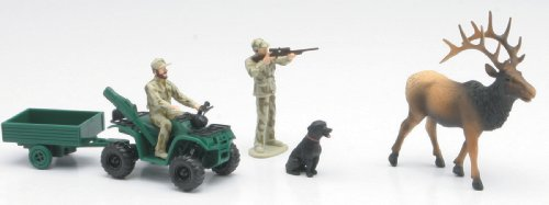 Playset Wild Hunting Assorted (You may receive Walleye , Rockmountainelk,Mallard,  Antelope, Turkey, Moose,Deer or Pheasant)