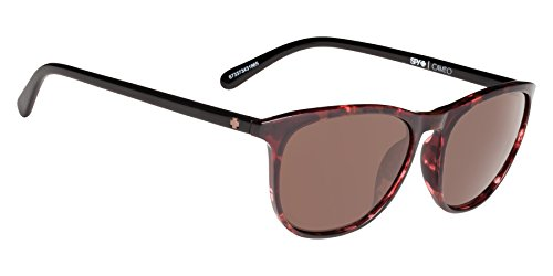Spy Optic Cameo Wrap Sunglasses, Alana Red Tort/Black/Happy Bronze, 1.5 - Optics Happy Lens Spy