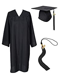 GradPlaza Unisex Adult Graduation Gown with Cap and Tassel 2019 Matte Gown