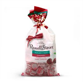 Russell Stover Sugar Free Cherry Hard Candies, 12 oz. Bag