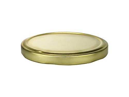 Nakpunar 24 pcs 110 mm Jar Lids in Gold - Canning Lid replacement