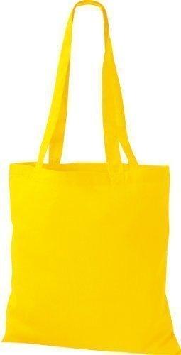 ShirtInStyle Premium Bolsa de tela Bolsa de algodón Bolsa Comprador Bolso de bandolera de muchos colores Amarillo