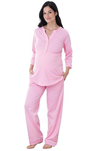 Nursing Sleepwear PajamaGram Womens Maternity Pajamas Cotton