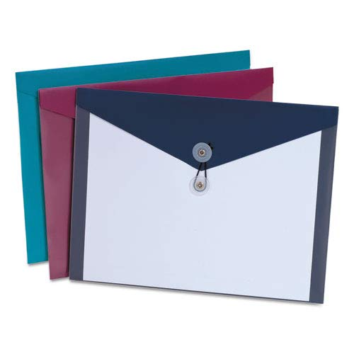 - ViewFront Poly Booklet Envelope, Side Opening, 11 x 9 1/2, 3 Colors, 4/Pack, Sold as 1 Package, 4 Each per Package