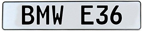 Vintage Parts 543933 Wall Art (BMW E36 White Stamped Street Sign Mancave) - E36 Part