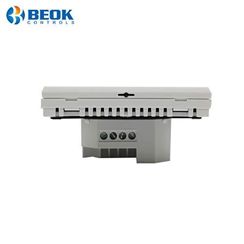 BEOK tds23wifi-ep Raumthermostat Thermostat Digital programmierbar Fu/ßbodenheizung Elektrische Heizung Kabelloser Temperatur Controller