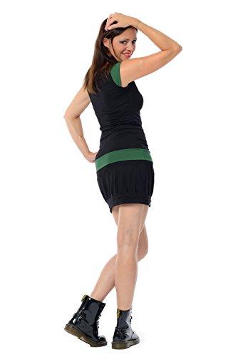 Abito Mini Donna Nero 3elfen Clubwear Senza Partito Abito Maniche Sfera Verde Scuro Estivo BwpqqR