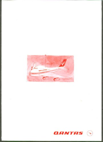 Qantas Boeing 747 Airliner cutout 1970s for sale  Delivered anywhere in USA