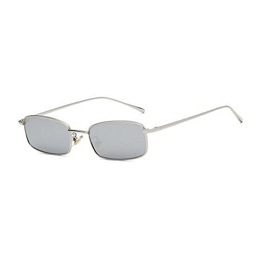 des lunettes en hommes Lunettes de de Argent de GAOLIXIA carré soleil de métal Ms Vintage de de Lunettes soleil rouge Frame lunettes petit lentille soleil soleil des ACZq7wPxA