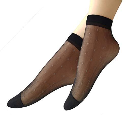 Qunson Women's 10 Pairs Polka Dots Ankle High Hosiery Socks