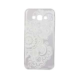 Blanco flores datura patrón TPU caja del teléfono de material delgado para la galaxia j1 / J5 / J7 ( Modelos Compatibles : Galaxy J1 )
