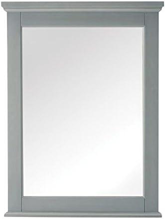 Amazon Com Home Decorators Collection Hamilton Wall Bath Mirror 32 Hx24 Wx2 D Grey Home Kitchen