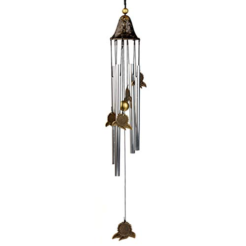 in/Outdoors Wind Chimes Alloy Wind Chime Door Hanging Decoration Four Tube Metal Bell Creative Children's Bedroom Balcony Wind Chime Home Garden Wind Chimes (Color : B)