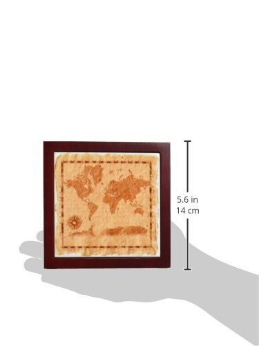 5-Inch 3dRose ph/_18940/_1 Old Map on Paper Tile Pen Holder