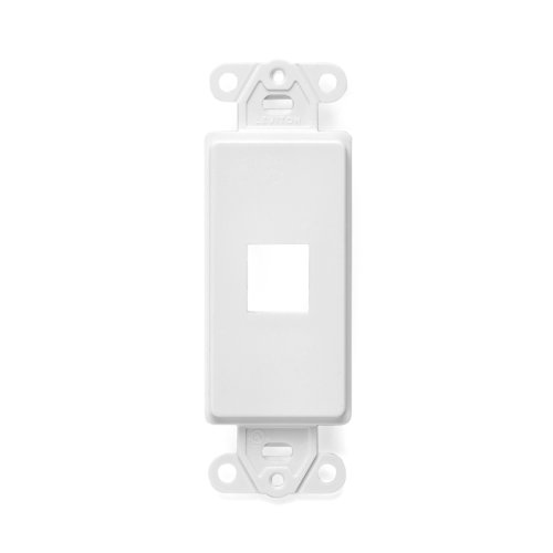 UPC 078477407660, Leviton 41641-W QuickPort Decora Insert, 1-Port, White