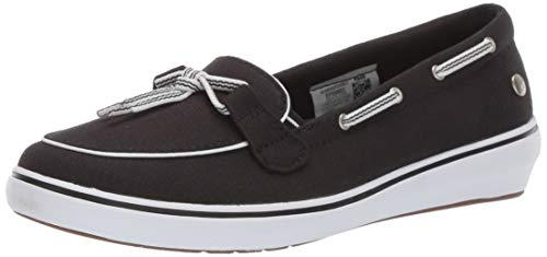 Grasshoppers Women's Windor Lace Core Slip On Boat Shoe, Black, 9 M US (Women Core)