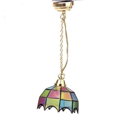 SimingD DIY 1:12 Dollhouse Miniature Ceiling Lamp LED Light Lamp