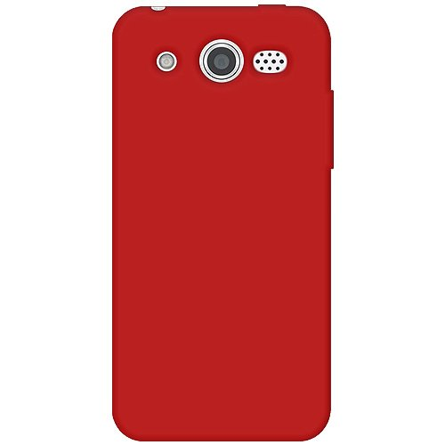 M886 Silicone (Amzer AMZ93115 Silicone Skin Jelly Cover Protector Case for Huawei Mercury M886 - Retail Packaging - Red)