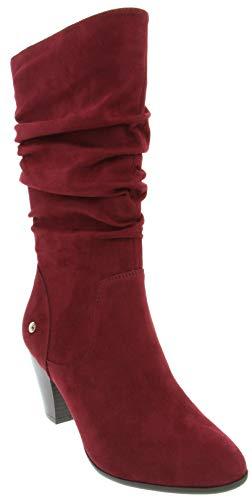 - Gloria Vanderbilt Women's Graham Dress Knee High Slouch Boot Ladies Side Zipper Block Heel Boot Merlot 10
