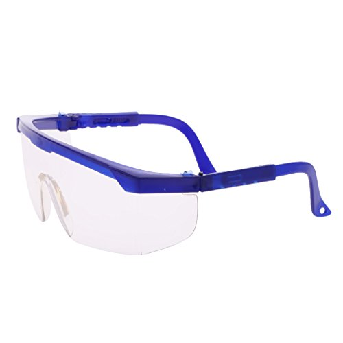 Blue Eyes Lens (Jili Online Safety Shooting Glasses Blue Frame with Clear Lens Kids Eye Protection 15cm)