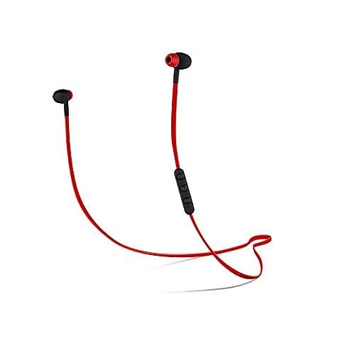 CYLO SoundWave Wireless Bluetooth Earbuds/Earphones/Headphones, Tangle-Free Wire, In-Line Microphone and Remote and Audio (Bluetooth Tangle Free Headphones)