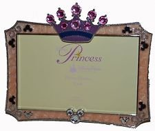 Disney Parks Jeweled Princess Crown 4 x 6 Picture Frame - Disney Parks Exclusive & Limited Availability
